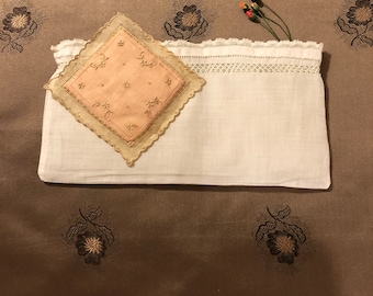 Vintage Linen Sachet Covers Set of 2