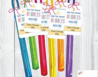Instant Download/ Editable End of School Year Tags/Classmate Gifts/Hope Your Summer Bubbles with Fun