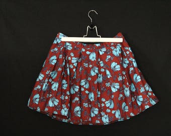 Skirt/Skirt Vintage year 1980 with flowers