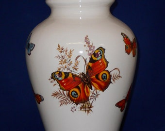 Butterfly Ceramic jar with lid,urn, Jar with lid,large urn, large jar, art pottery, handmade