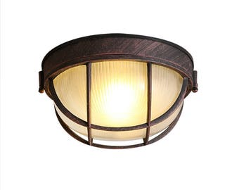 Glass Cage Mounted Ceiling Lamp - ceiling lamp - mounted lamp - E27 - edison bulb - industrial style - hanging lamp - Edison bulb lamp