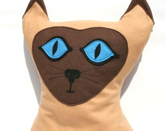 Grand Kitty - housse de coussin grand Eco feutre chat siamois