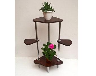 Corner plant stand | Etsy