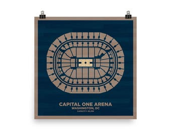 Capital One Arena Wall Art - Georgetown University Hoyas Basketball