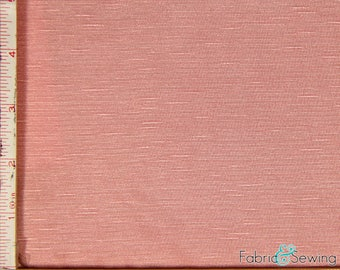 """Dusty Pink Knit Slub Jersey Fabric 2 Way Stretch Rayon Slub 6 Oz 58-60"""" 780165"""