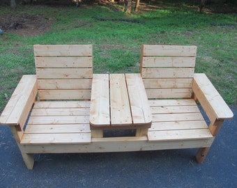 Two Seat Bench with Table