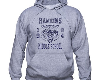 Hawkins Middle School 1984 sweatshirt/ Stranger Things hoodie/ Hawkins School pullover/ Stranger Things gift/ jumper/ sweater/ 1984/ (Q232)