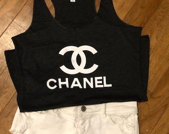 Chanel tank top, chanel shirt, Chanel tank
