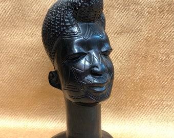 Ebony wood bust