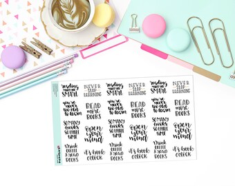 BOOK QUOTES Paper Planner Stickers!