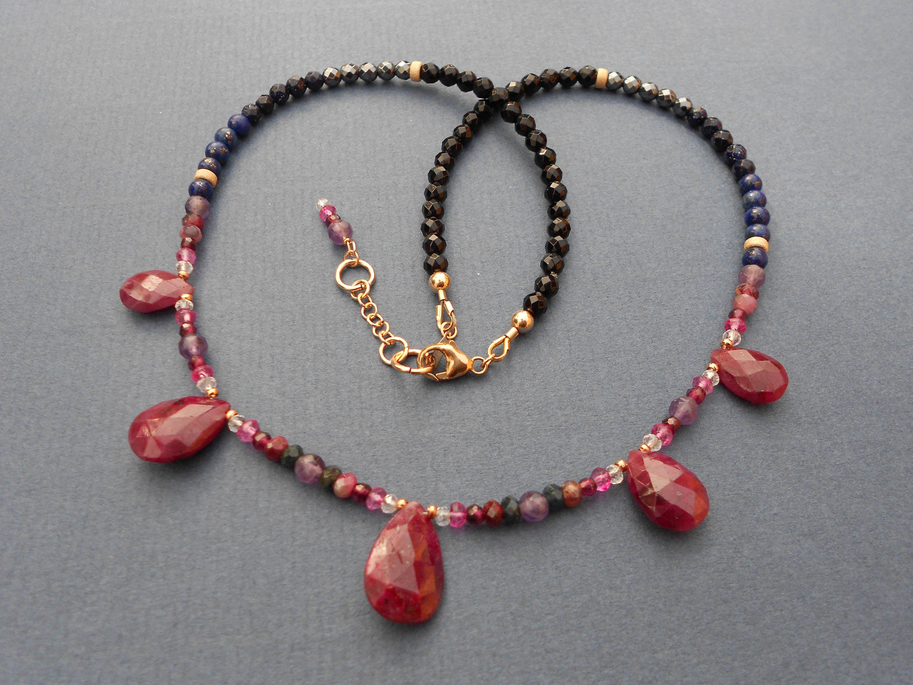 statement gold rose precious gemstone quartz and ottoman multi stone necklaces semi necklace amethyst hands