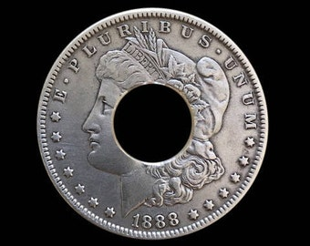 PRE Center-Punched and Deburred Morgan Silver Dollar to Make into a Coin Ring