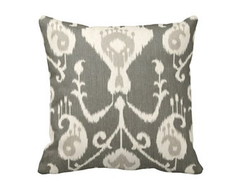 Grey Throw Pillow Cover Charcoal Grey Pillow Covers Gray Pillows Grey Ikat Pillows Decorative Pillows for Couch Cushion Grey Pillowcase