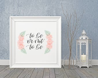 to be or not to be, Mark Twain, home decor, bright and cheery