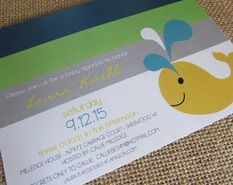 A Whale of a time - baby shower invitation - DIY - PRINT YOURSELF or purchase prints