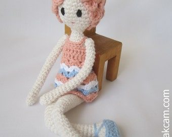 Crocheted Doll - made from certified 100% organic cotton garn
