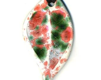 Spotted Leaf Ceramic Necklace