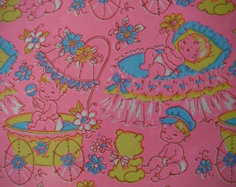 Vintage New Baby Wrapping Paper - Vintage New Baby Girl New Baby Boy Vintage Gift Wrap - Cute Baby Gift Wrap - Baby Shower Wrapping Paper