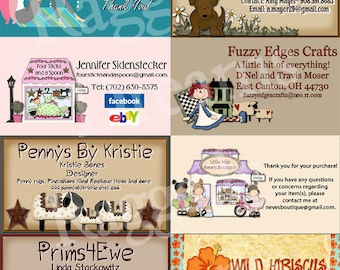 Made to Match Etsy Business Card for Vista Print  U-PICK DESIGN - Raggedy Dreams Etsy Design