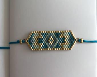 EMMA - Peacock blue Bracelet
