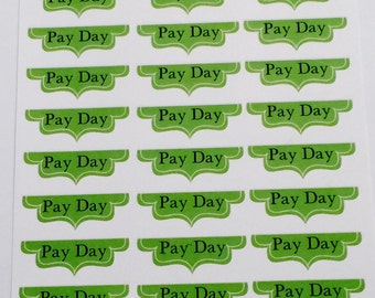 33 Payday  Planner Stickers