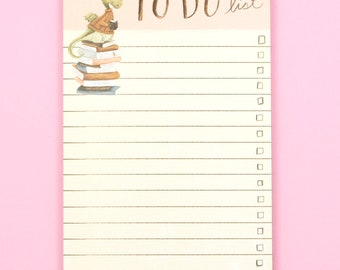 Dragon to do list, coworker gift, office supplies, gift for friend, book lover gift, book notepad, dragon gift. dragon notepad