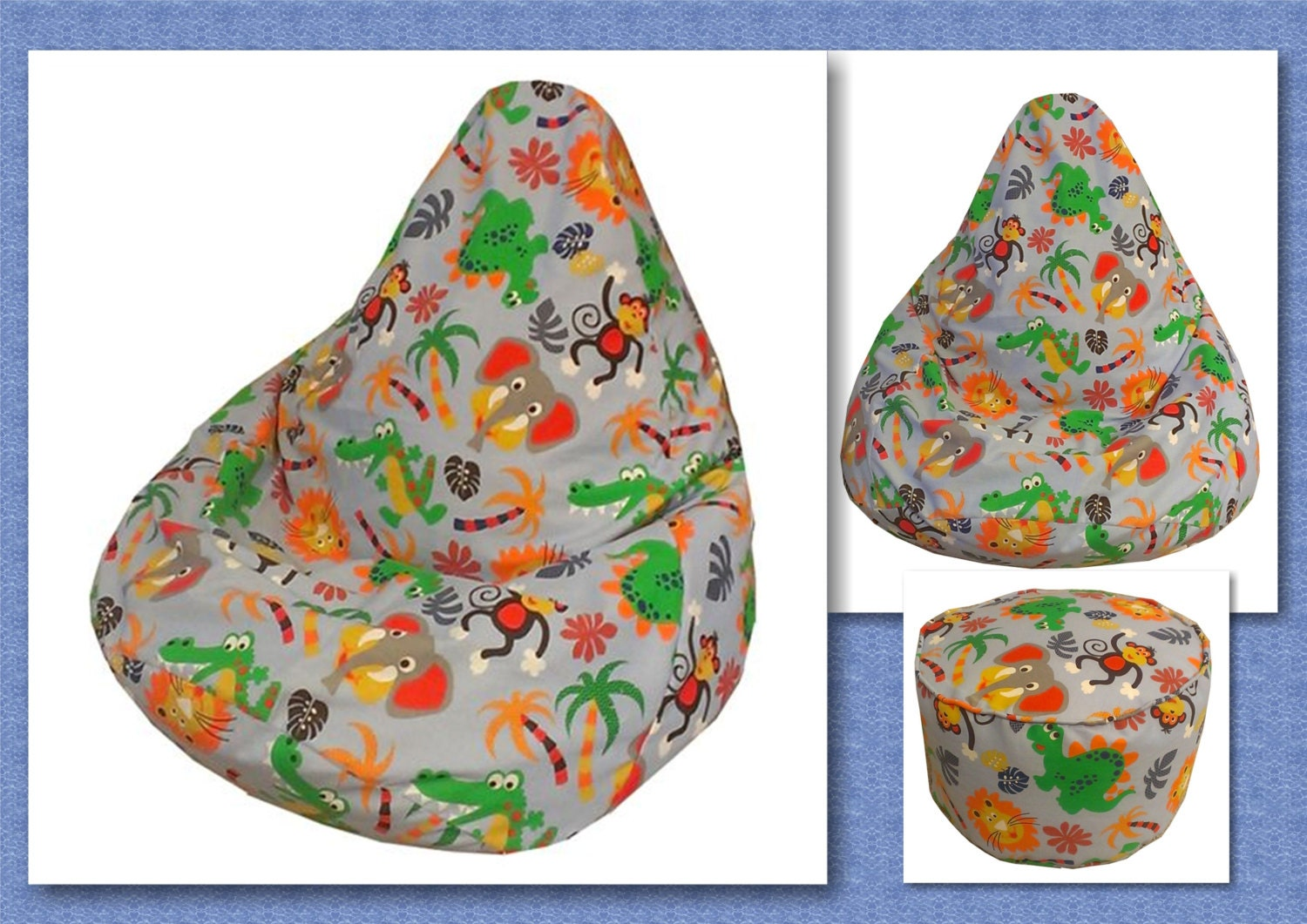 Kids bean bag sewing pattern children chair beanbag lazy zoom jeuxipadfo Gallery
