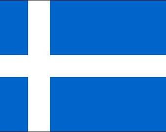Flag Of Shetland Sticker (Scotland Archipelago Islands)