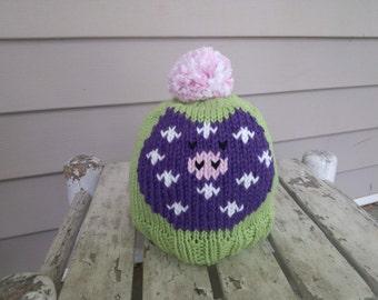 Purple Pig Hat