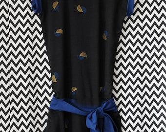Jersey dress + Belt//points//bio