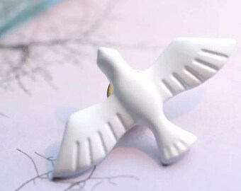 White Dove Lapel Pin