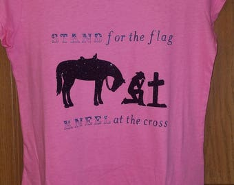 Stand for the flag horse shirt