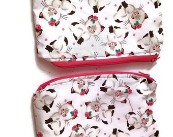 Cute Cat Pouch/Toiletry Bag/Small Bag/Cosmetic Bag
