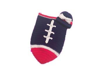 Houston Fan Favorite Baby Girl Football Cocoon & Hat (Newborn to 3 months)