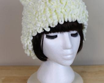 White Cat Ear Hat