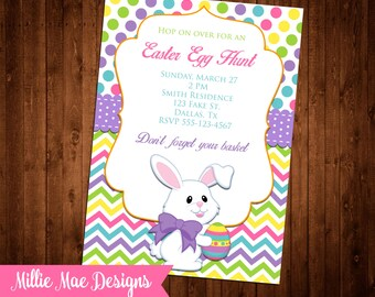 Easter Egg Hunt Invitation - Digital File - Print As Many As You Need