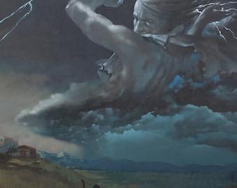 Zeus - Greek God - 8 x 10 art print of an oil painting
