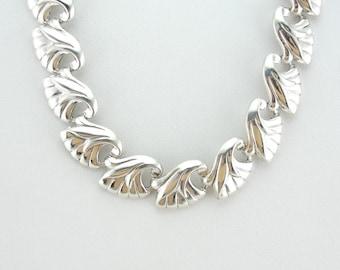 Vintage Sterling Silver Necklace By Jewelart EPNCK7