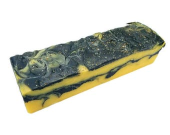 SOAP - 3.5 lb Lemon Chia Handmade Soap Loaf, Wholesale Soap Loaves, Vegan Soap, Cold Processed Soap, Natural Soap, FREE SHIPPING