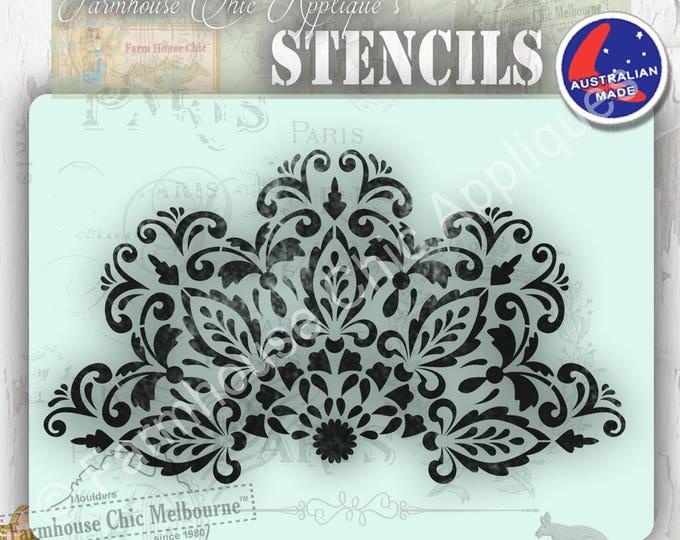 Create a Mandala Furniture Stencil 26.cm across! Mylar Stencil, Artist Stencil, Cake Stencil, French Stencil, Pochoirs de meubles