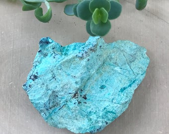 Rough Chrysocolla Crystal - Large Lapidary Crystal - Altar Stone - Healing Crystal - Rock and Mineral - Blue Green - Bohemian Decor - Hippie