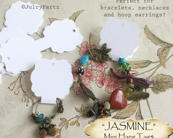 30•4L x 1.75W•JASMINE•Hang Tags•Jewelry Cards•Earring Display•Necklace Tag•Hoop Earring Holder