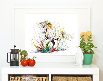 RUN FREE - Horse *Limited Edition Giclée Print on Watercolour Paper - 300gsm.