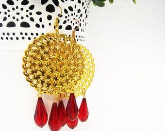 Round hoop earrings, Hoop earrings, Chandelier earrings, Gold hoop earrings, Dangle earrings, Large hoop earrings, Earrings, round earrings