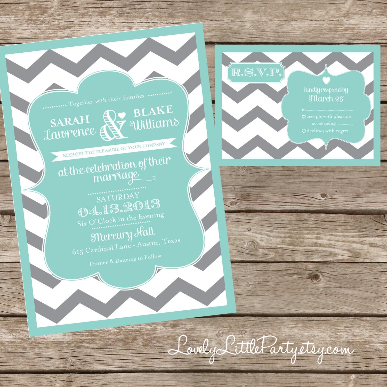 chevron wedding invitation and rsvp design diy printable lovely
