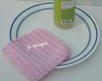 Dishcloths or washcloth set, 100% cotton, pink, baby shower gift, housewarming gift, ready to ship