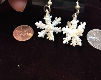SnowFlake Earrings, snowflake, handmade earrings, Christmas jewelry, Christmas gift, earrings
