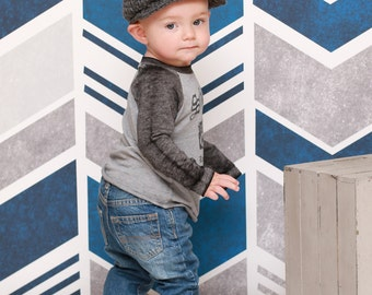 9 Sizes Boy Hat Baby Hat Toddler Hat Baby Boy Hat Toddler Boy Hat Irish Wool Donegal Cap Donegal Hat Charcoal Gray Flat Cap Driving Newsboy