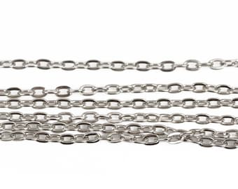 5 meters CABLE LINK CHAIN Silver Unsoldered Links, 4x3mm links, for bracelets, necklaces, fch0560