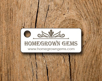"160 price tags - 1.25"" Rectangles  - Floral Border - Customized Small Price Tags Jewelry Hang Tags Labels"